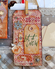 warm Christmas inspiration tag