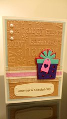 Unwrap a Special Day Birthday Card