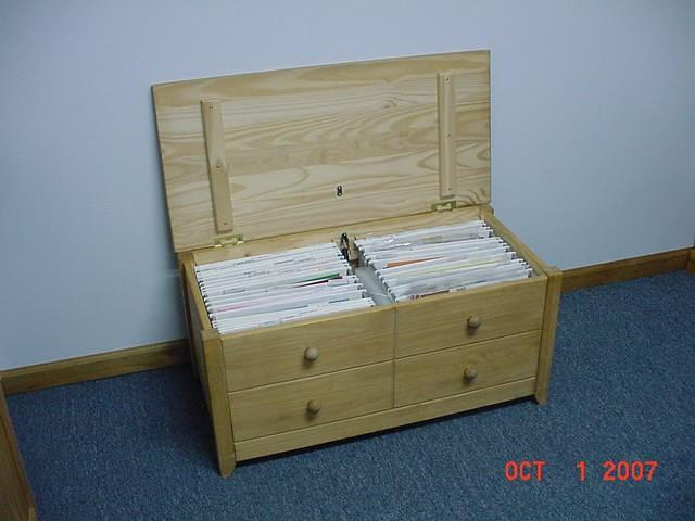 Scraproom: Wood 12x12 Paper Storage Box