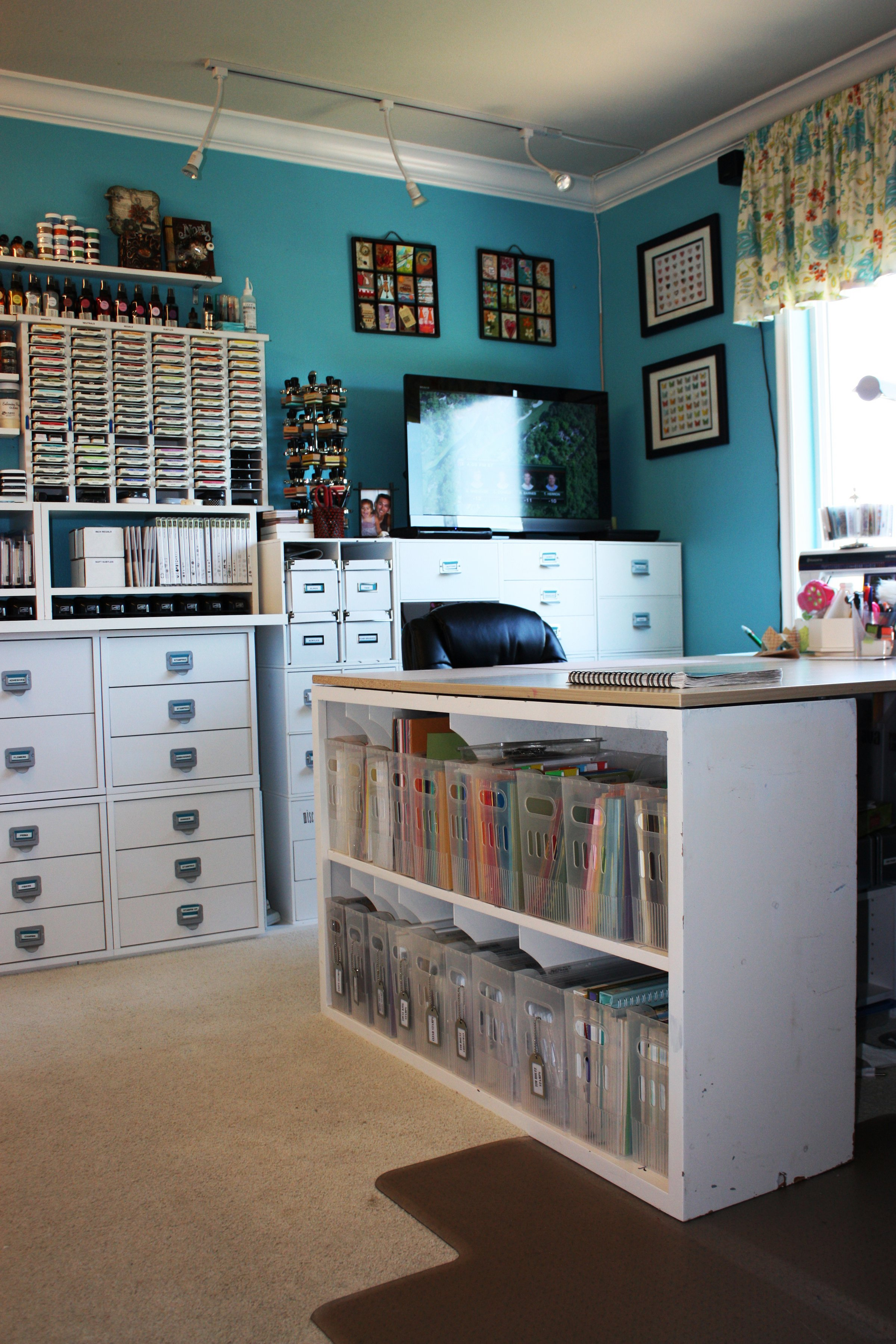 Scraproom my scraproom for Office craft room design ideas