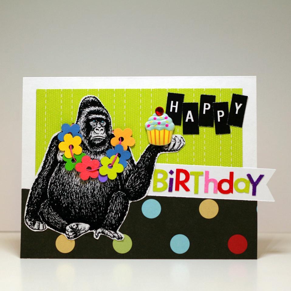 Birthday Photography Tips And Tricks: Card: Happy Birthday Gorilla