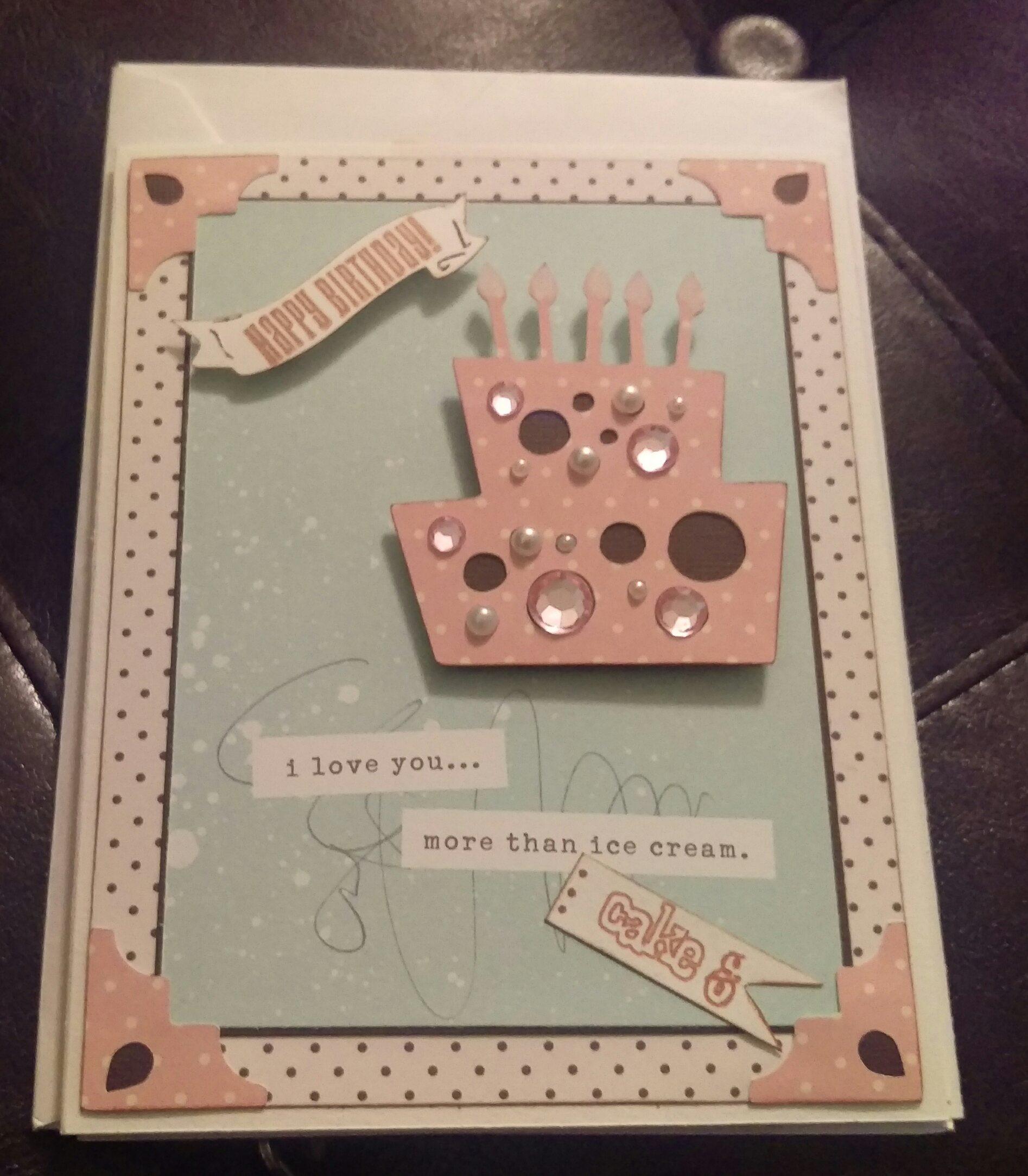 I Love You More Than Ice Cream: Card: I Love You More Than Cake & Ice Cream