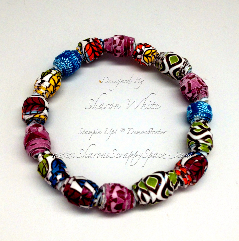 other paper bead bracelet