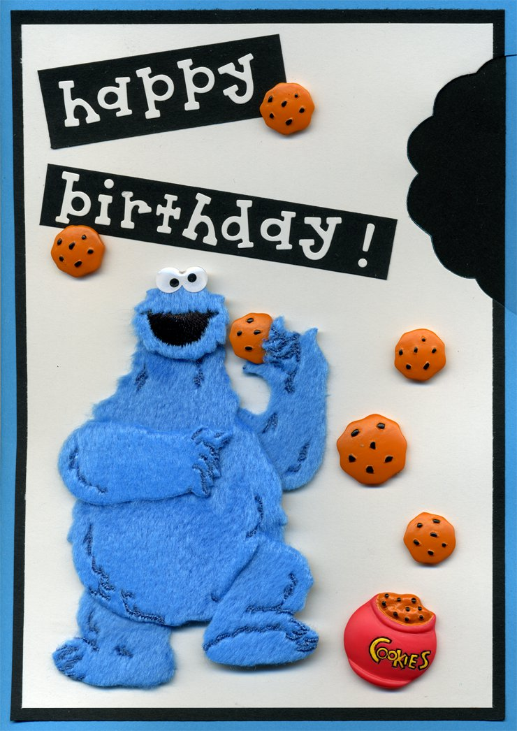 Card: Cookie Monster Happy Birthday