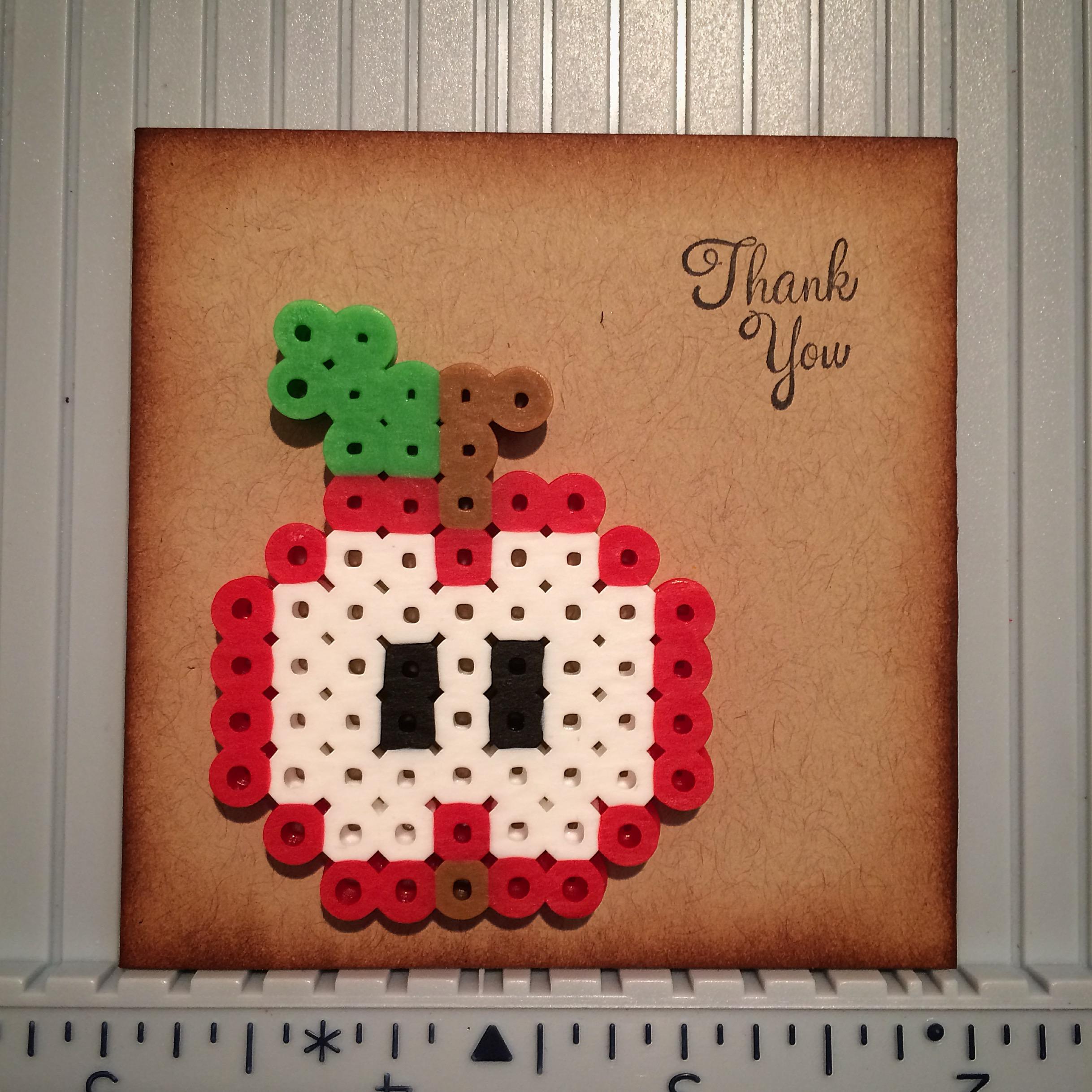 Id Card Beads: Card: Perler Bead Apple
