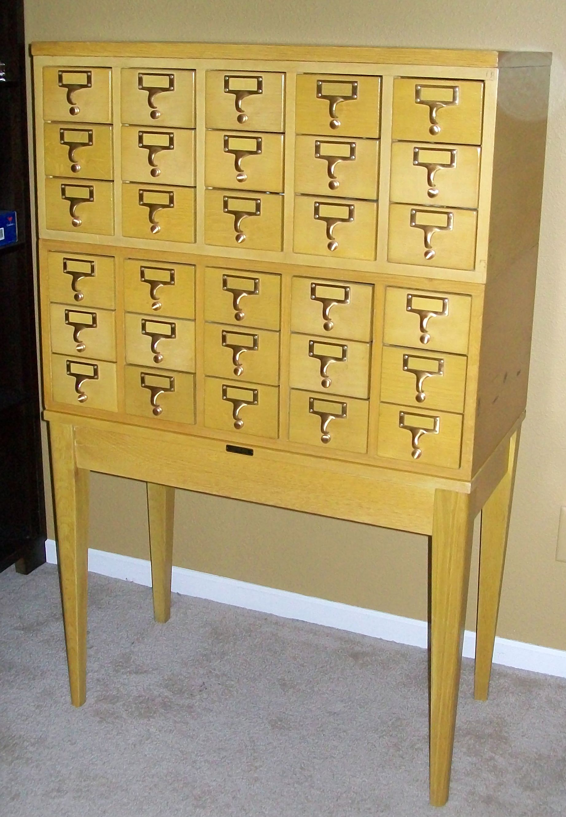 Photo Library Card Catalog Cabinet For Scraproom Storage