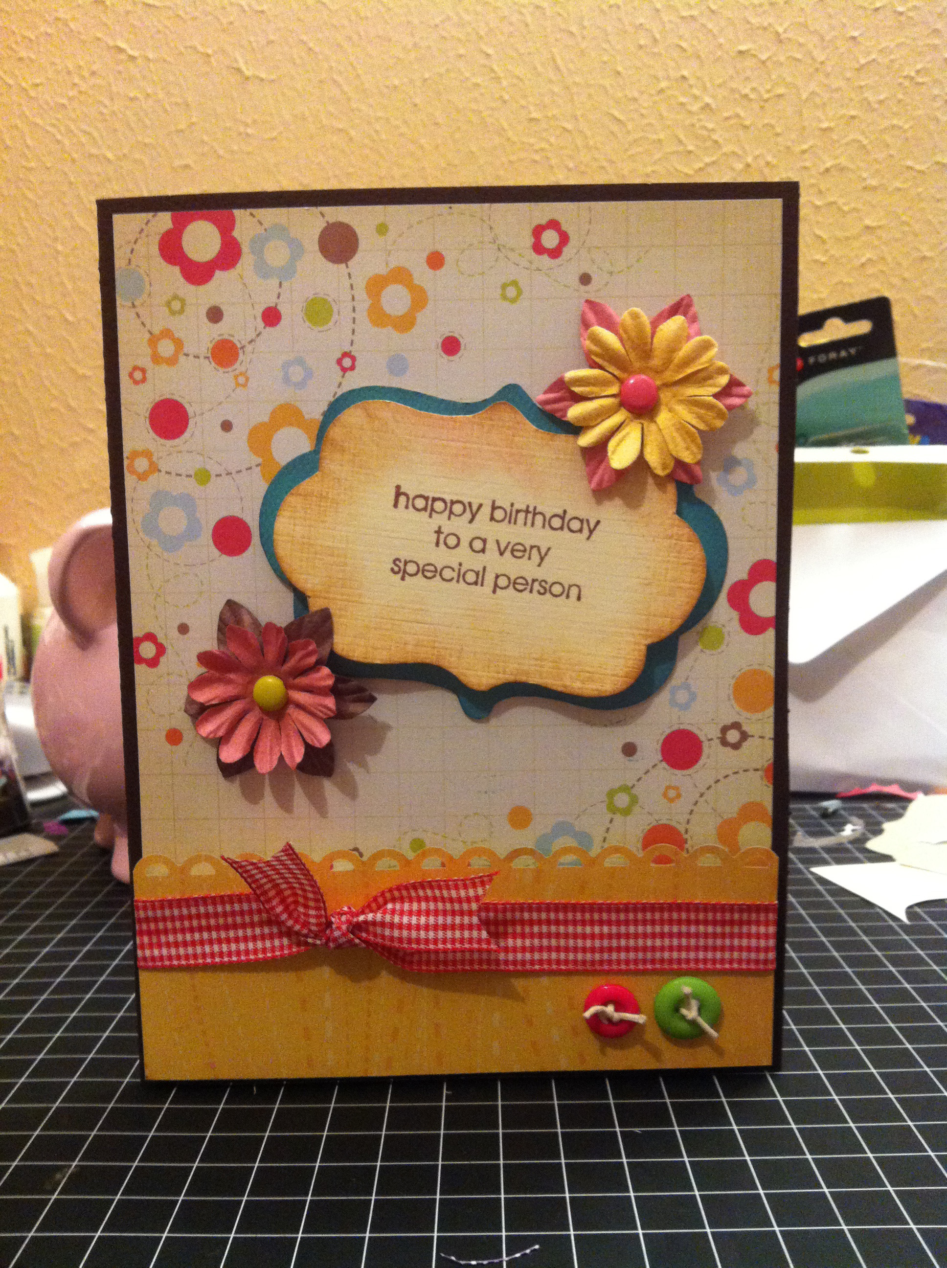 Card: HAPPY BIRTHDAY TO A VERY SPECIAL PERSON