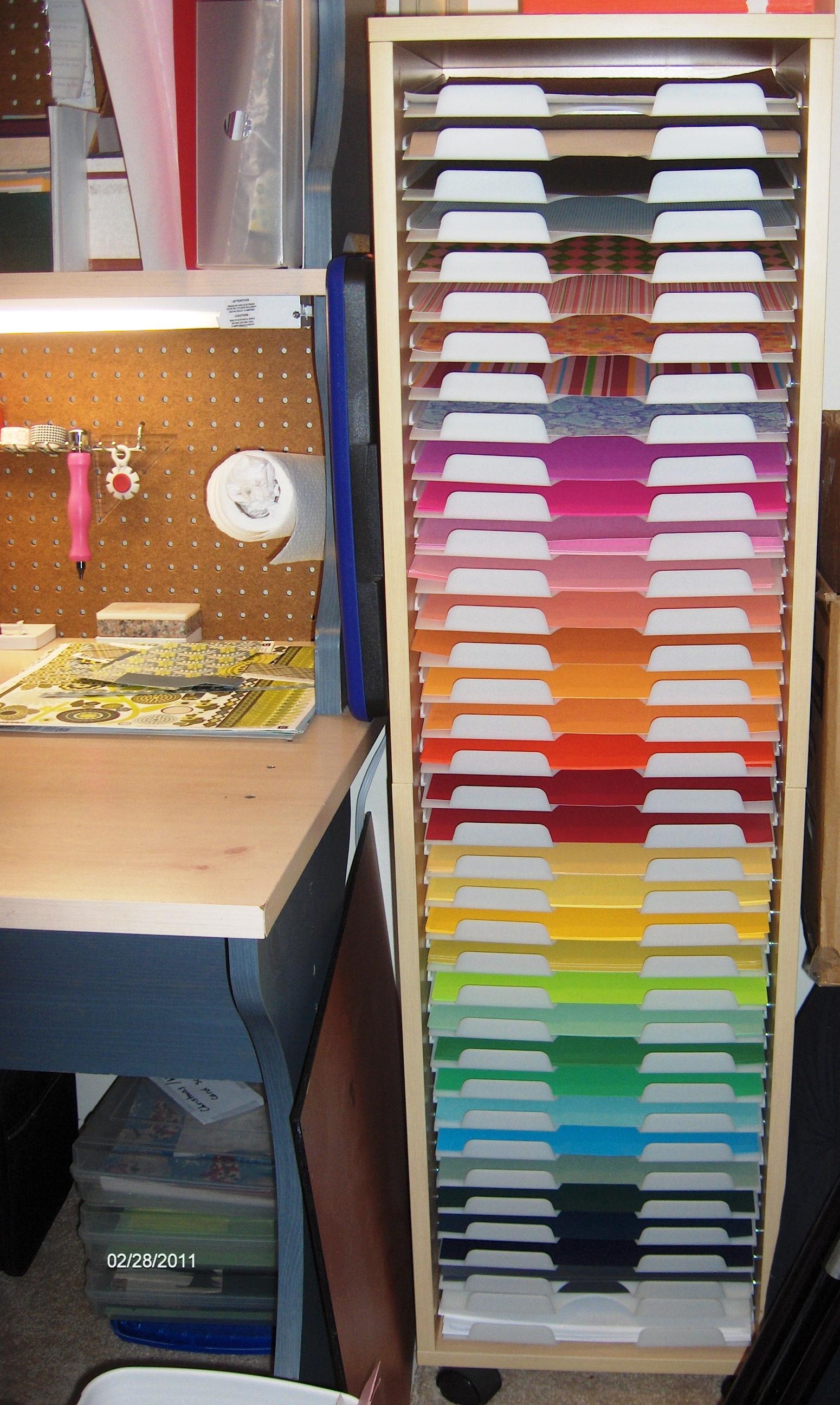 Scraproom: 12x12 Paper storage