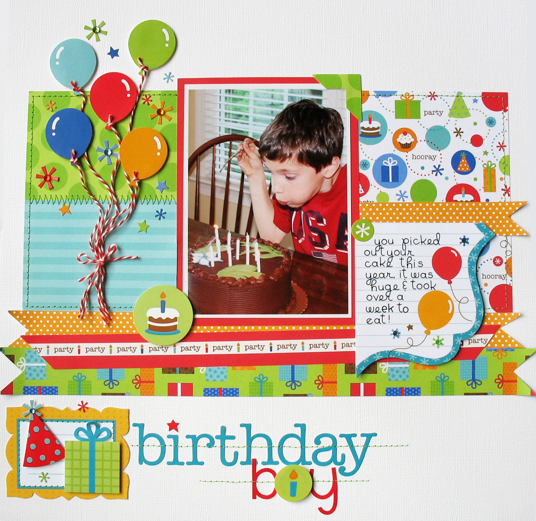 Layout Birthday Boy