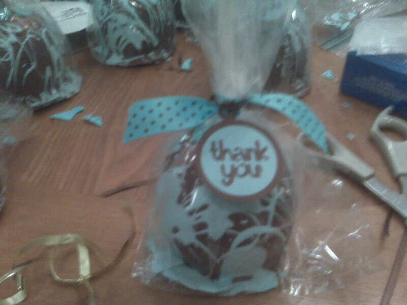 other baby shower candy apples and tags