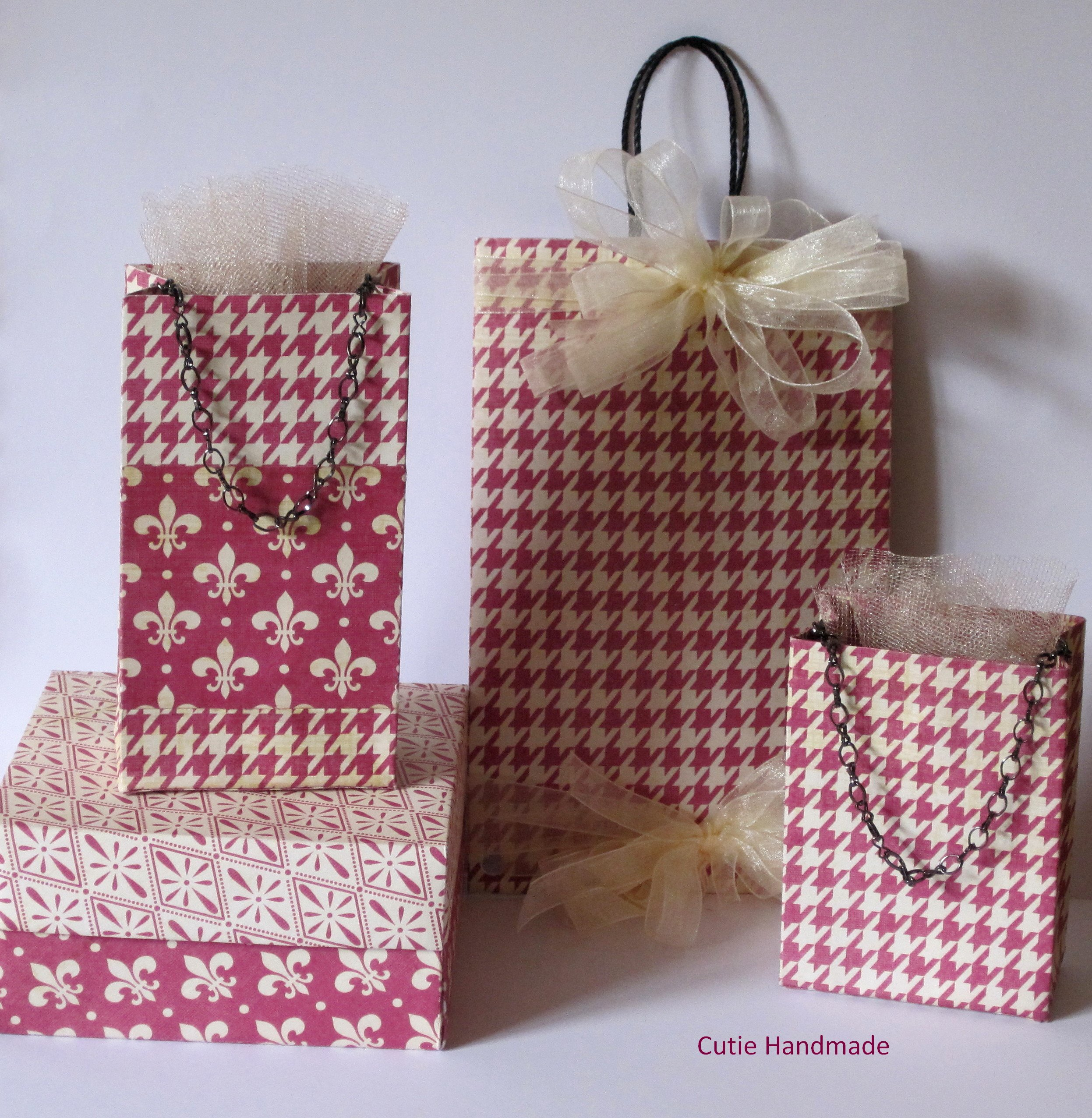Wedding Gift Bags Boxes : ... : Gift Bag and Gift Box Set, Origami, Wedding Favor Bags, Gift Wrap