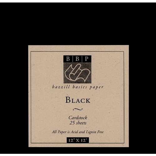 Bazzill Basics - 12x12 Black Cardstock Pack