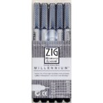 Zig Memory System Millenium - 5-tip All Black Set
