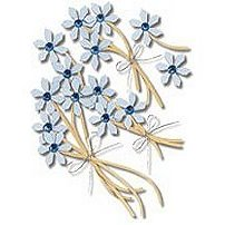 Jolee's Boutique - Blue Jeweled Flowers