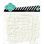 Heidi Swapp - Hello Today Collection - Memory Planner - Clear Pop Alphabet - White