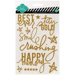 Heidi Swapp - Hello Today Collection - Memory Planner - Glitter Stickers - Gold