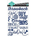 Heidi Swapp - Hello Today Collection - Memory Planner - Glitter Stickers - Navy