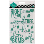 Heidi Swapp - Hello Today Collection - Memory Planner - Glitter Stickers - Teal