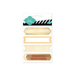 Heidi Swapp - Hello Today Collection - Memory Planner - Wood Stamp Labels - Yellow