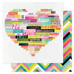 Heidi Swapp - Favorite Things Collection - 12 x 12 Double Sided Paper - Wordy