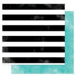 American Crafts - Heidi Swapp - Favorite Things Collection - 12 x 12 Double Sided Paper - Seeing Stripes