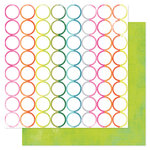 American Crafts - Heidi Swapp - Favorite Things Collection - 12 x 12 Double Sided Paper - Rainbow Rounds