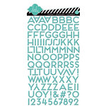 American Crafts - Heidi Swapp - Favorite Things Collection - Puffy Gloss Stickers - Alphabet