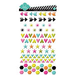 Heidi Swapp - Favorite Things Collection - Puffy Gloss Stickers - Shapes