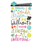 American Crafts - Heidi Swapp - Favorite Things Collection - Epoxy Stickers - Words