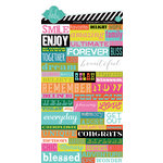 American Crafts - Heidi Swapp - Favorite Things Collection - Cardstock Stickers - Word Jumble