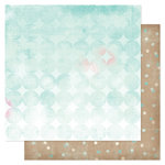 American Crafts - Heidi Swapp - Dreamy Collection - 12 x 12 Double Sided Paper - Dreamy Dots