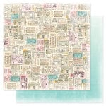 Heidi Swapp - Dreamy Collection - 12 x 12 Double Sided Paper - Ticket To Ride