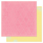 American Crafts - Heidi Swapp - Dreamy Collection - 12 x 12 Double Sided Paper - Pink Dream