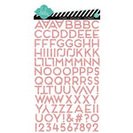 American Crafts - Heidi Swapp - Dreamy Collection - Puffy Glitter Stickers - Alphabet