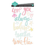 American Crafts - Heidi Swapp - Dreamy Collection - Clear Words