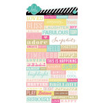American Crafts - Heidi Swapp - Dreamy Collection - Cardstock Stickers - Word Jumble