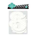 American Crafts - Heidi Swapp - Color Magic Collection - Embossed Jumbo Numbers