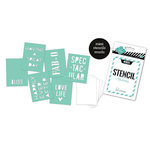 Heidi Swapp - Stencil Mini Kit - Words