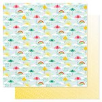 American Crafts - Pink Paislee - Hello Sunshine Collection - 12 x 12 Double Sided Paper - Stormy Weather