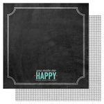 American Crafts - Pink Paislee - Hello Sunshine Collection - 12 x 12 Double Sided Paper - Happy Days