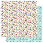 Pink Paislee - Hello Sunshine Collection - 12 x 12 Double Sided Paper - Puddle Jumper
