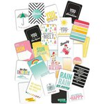 American Crafts - Pink Paislee - Hello Sunshine Collection - 3 x 4 Double Sided Pocket Cards