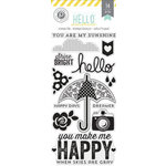 Pink Paislee - Hello Sunshine Collection - Clear Acrylic Stamps and Die