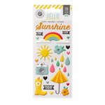 Pink Paislee - Hello Sunshine Collection - Puffy Stickers
