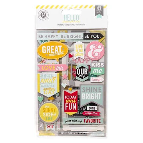 Pink Paislee - Hello Sunshine Collection - Chipboard Stickers