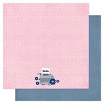 American Crafts - Pink Paislee - Pen Pals Collection - 12 x 12 Double Sided Paper - Priority Mail