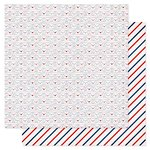 American Crafts - Pink Paislee - Pen Pals Collection - 12 x 12 Double Sided Paper - Mr Postman