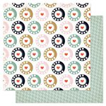 American Crafts - Pink Paislee - Switchboard Collection - 12 x 12 Double Sided Paper - Rotary Phone