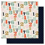 Pink Paislee - Switchboard Collection - 12 x 12 Double Sided Paper - Dial Up