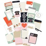 American Crafts - Pink Paislee - Switchboard Collection - 3 x 4 Double Sided Pocket Cards